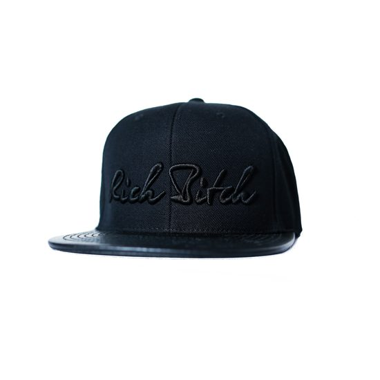 RICH BITCH SNAPBACK BLACK CAP