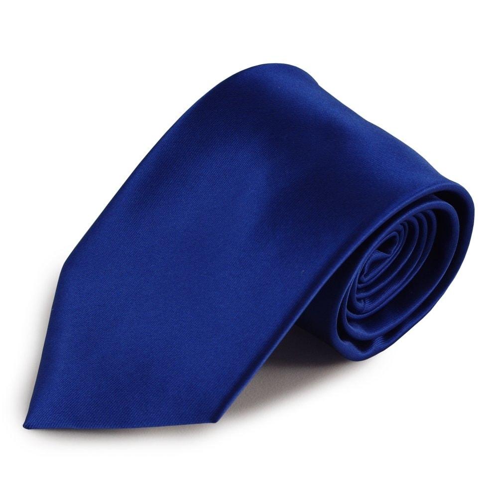 Tmavě modrá mikrovláknová kravata