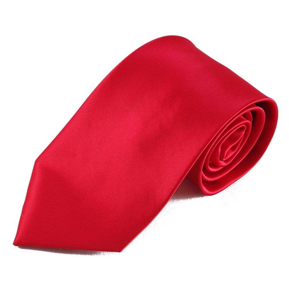Červená mikrovláknová kravata