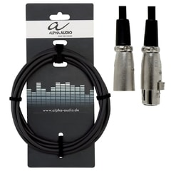 Alpha Audio Basic Line, 3 m, kabel XLR pro mikrofon