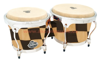 Latin Percussion Aspire Accent Series Wood Bongos, Checker Board