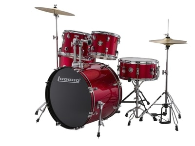 Ludwig LC17514 New Accent Drive Wine Red
